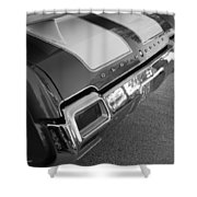 Olds Cs In Black And White Shower Curtain