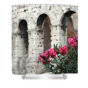 Oleander And Colosseum Shower Curtain