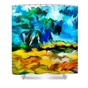 Olive Trees In The Manner Of Van Gogh Shower Curtain