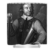 Oliver Cromwell (1599-1658) Shower Curtain