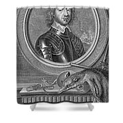 Oliver Cromwell, English Political Shower Curtain