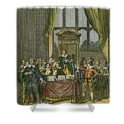 Oliver Cromwell Shower Curtain