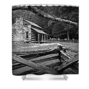 Oliver's Cabin In The Great Smokey Mountains Shower Curtain