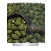 Olives Being Processed In Provence Shower Curtain