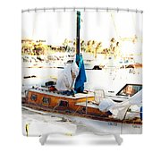 Olivia Docked Shower Curtain