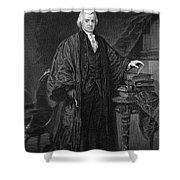Olvier Ellsworth (1745-1807). Chief Justice Of The United States Supreme Court, 1796-1799. Steel Engraving, 1863 Shower Curtain