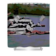 Olympic Lightweight Double Sculls Shower Curtain