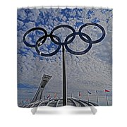 Olympic Stadium Montreal Shower Curtain by Juergen Weiss