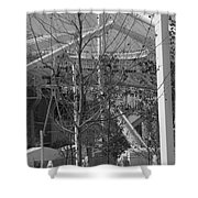 Olympic Torch - Athens Summer Games Shower Curtain