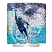 Olympics Swimming 01 Shower Curtain
