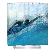 Olympics Swimming 03 Shower Curtain