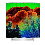 Ominous Cloudfront Shower Curtain
