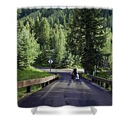 On A Country Road - Vail Shower Curtain