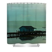On A Pier Shower Curtain