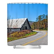 On A Roll In West Virginia 2 Shower Curtain