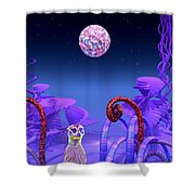 On Another Planet Shower Curtain by Douglas Barnard
