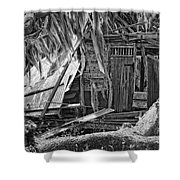On Evergreen Platation Black And White Shower Curtain