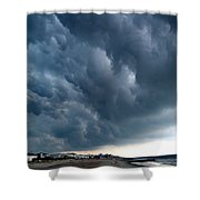 On Shore Shower Curtain by Skip Willits