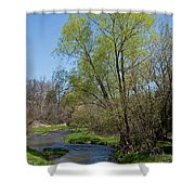 On The Banks Of Spring Shower Curtain