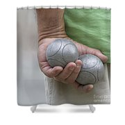 On The Boules Pitch Shower Curtain