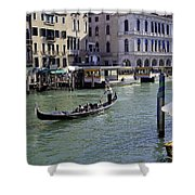 On The Canal In Venice Shower Curtain