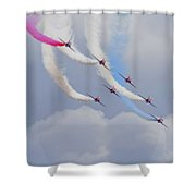 On The Curve Shower Curtain