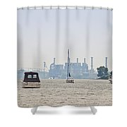 On The Delaware River Shower Curtain