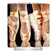 On The Edge Of Toes Shower Curtain