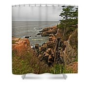 On The Edge Shower Curtain