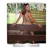On The Fence 819 Shower Curtain