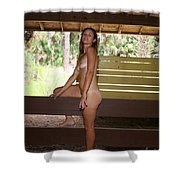 On The Fence 842 Shower Curtain