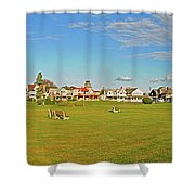 On The Green At Marthas Vineyard Shower Curtain
