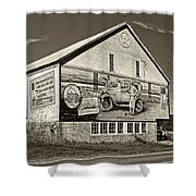 On The Lincoln Highway Sepia Shower Curtain