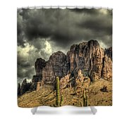 On The Mountain Shower Curtain
