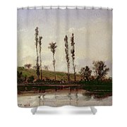 On The Outskirts Of Paris Shower Curtain