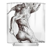 On The Quest For Nothing Shower Curtain