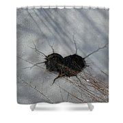 On The River. Heart In Ice 03 Shower Curtain