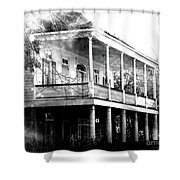 On The River Road At New Roads Shower Curtain