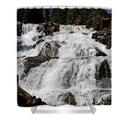 On The Rocks Glen Alpine Falls Shower Curtain