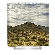 On The Top Of The Mountain  Shower Curtain