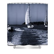 On The Water 1 - Venice Shower Curtain