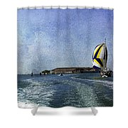 On The Water 2 - Venice Shower Curtain