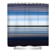 On The Water Abstract Shower Curtain