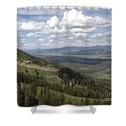On Top Of Rendezvous Mountain Shower Curtain