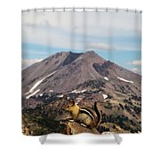 On Top Of The World Shower Curtain