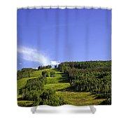 On Vail Mountain II Shower Curtain