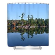 Once Reflected Shower Curtain