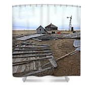 Once There Was A Farm Shower Curtain