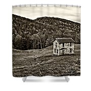 Once Upon A Mountainside Sepia Shower Curtain