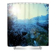 One Blue Morning Shower Curtain